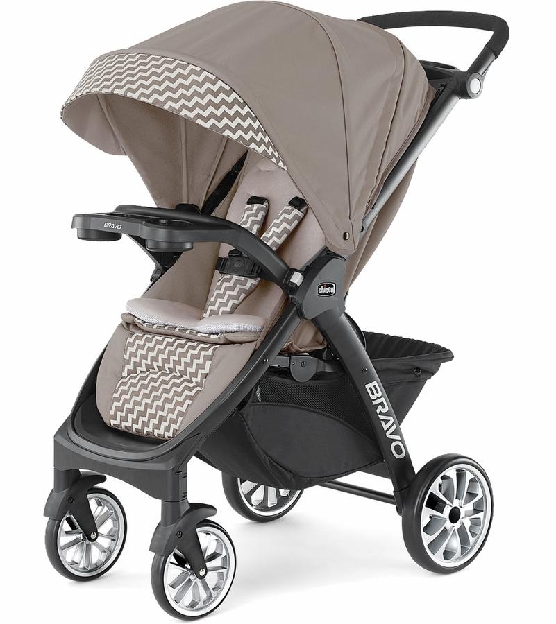 Chicco Bravo LE Quick-Fold Stroller, Coal